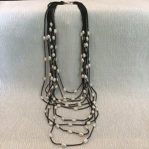 Cultivated pearl  multi strand necklace